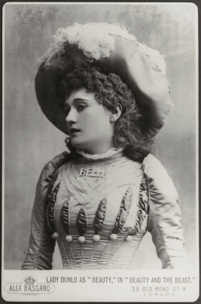 Belle Bilton as Beauty in 'Beauty and the Beast', photograph by Alexander Bassano, 1889