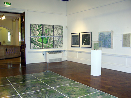 'Ground Level'  by Cally Trench in 'Mapping' at Bury Art Gallery